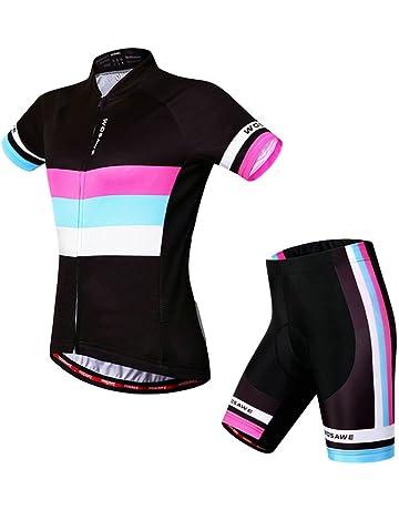 Womens Cycling Jersey Wosawe Short Sleeve Cycle Racing Shirt Shorts Bicycle  Bike Girl Sportwear Clothing D403 800b5f8cd