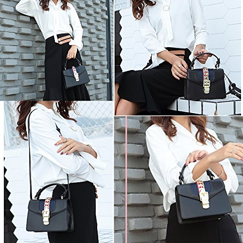 Beatfull Black Bag Shoulder Cross Women A Fashion Mini Bow For Tie Body With Handbags rOWSqrnUxa