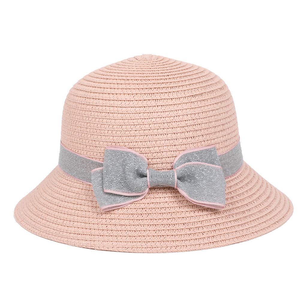 5-8 Years Old Children Bow Travel Bohemian Hats Beach Sun Hat Basin Caps