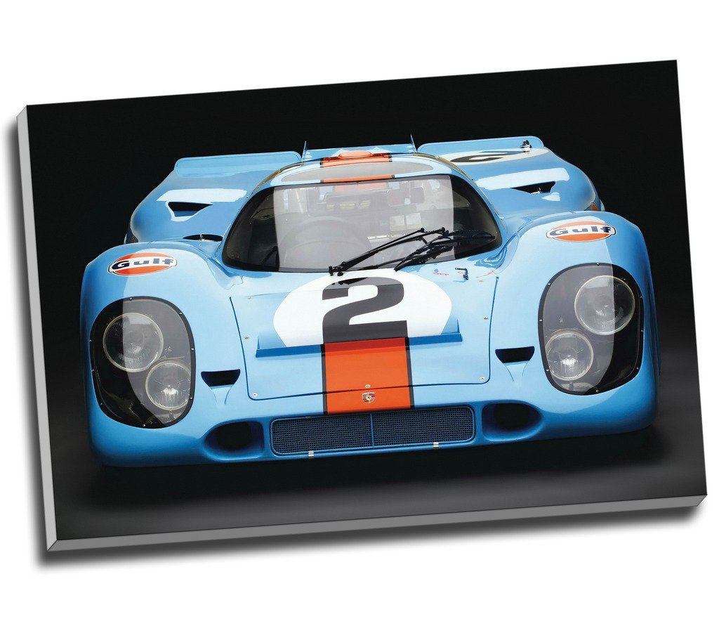 PORSCHE 917 LE MANS CANVAS ART PRINT STRETCHED AND FRAMED