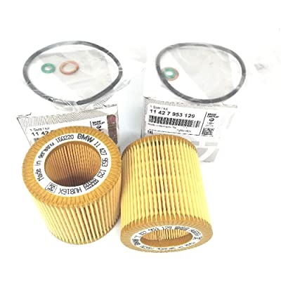 11-42-7-953-129 Set Oil-Filter Element for BMW F22 F23 F30 F34 228i 320i 328i 428i 428i Gran Coupe 528i X1 X3 Z4 Premium Quality: Automotive
