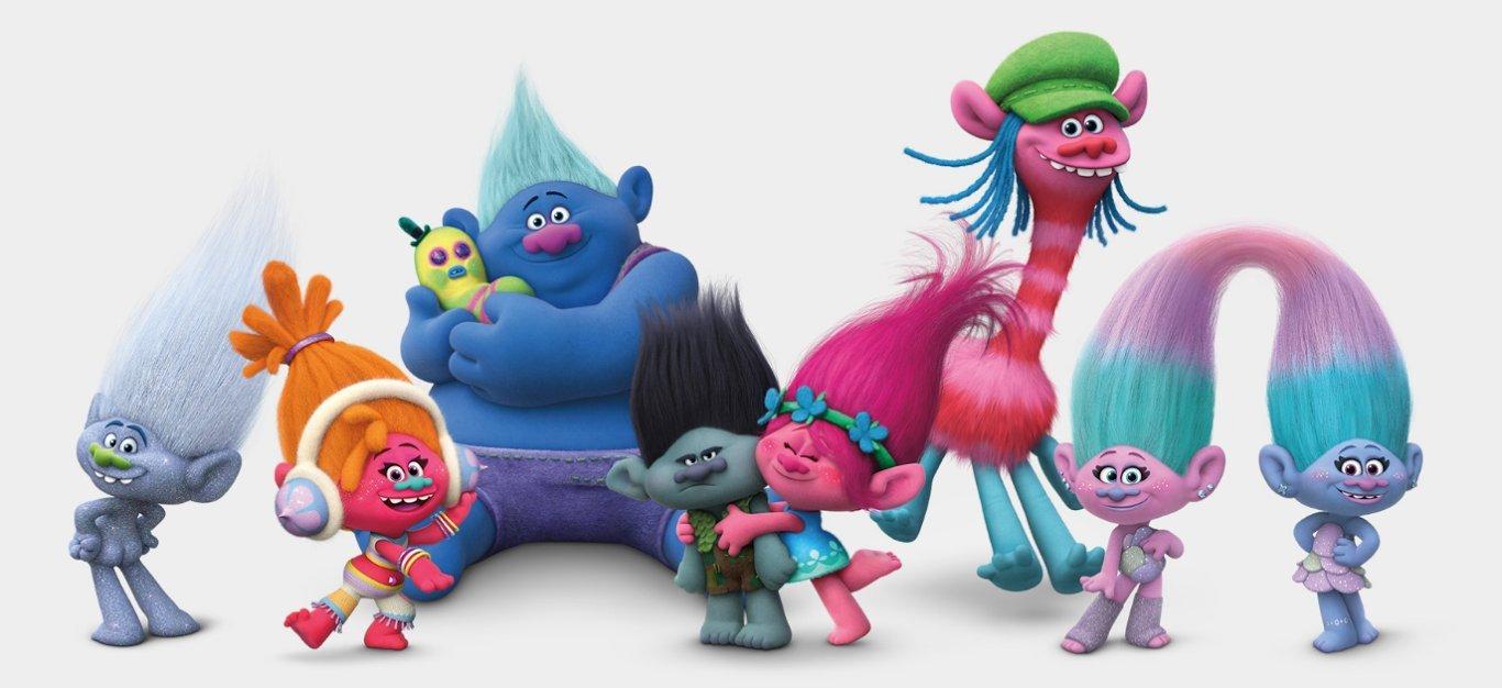 TROLLS (DREAMWORKS) - Plush toy ''Princess Poppy'' (pink hair 15''/37cm) - Quality Super Soft by DREAMWORKS TROLLS