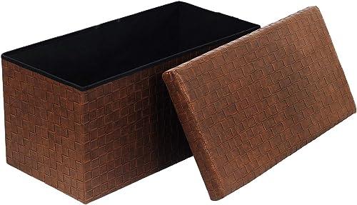 B FSOBEIIALEO Folding Storage Ottoman