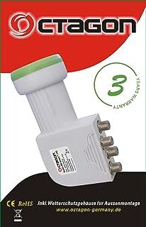 Octagon Optima OTLSO PLL Slim Twin LNB 0 1 dB: Amazon co uk