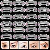 Best Eyebrow Shapes - AKOAK 24 Piece 8 Set Eyebrow Stencils Eyebrows Review