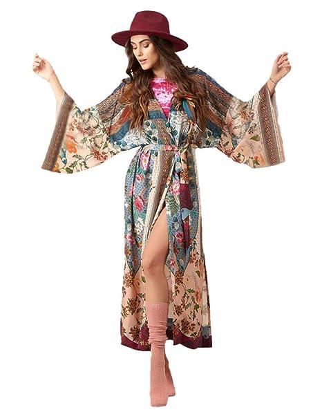 Vestido de Playa Kimono Traje Ropa de Baño para Mujeres ...