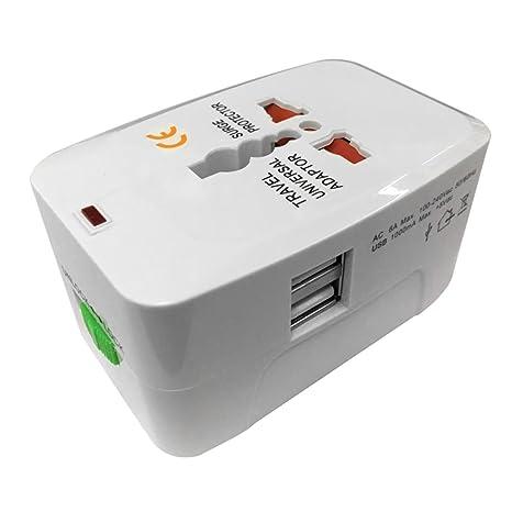 Adaptador de viaje universal Cargador doble USB AU/UK/US/EU ...