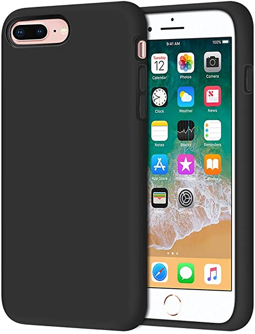 Amazon Com Anuck Case For Iphone 8 Plus Case For Iphone 7 Plus Case 5 5 Inch Soft Silicone Gel Rubber Bumper Case Microfiber Lining Hard Shell Shockproof Full Body Protective Case Cover T Black