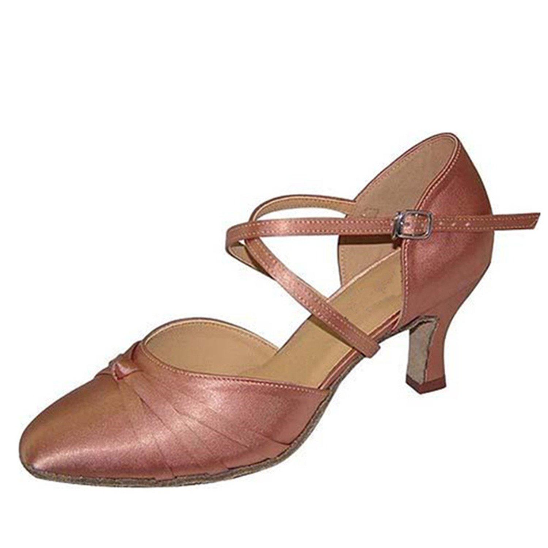 Apricot Couleur 39 EU YFF  Les Femmes Cadeaux Chaussures de Danse de Bal Danse Latine Chaussures de Danse Tango 7.5CM 7.5CM