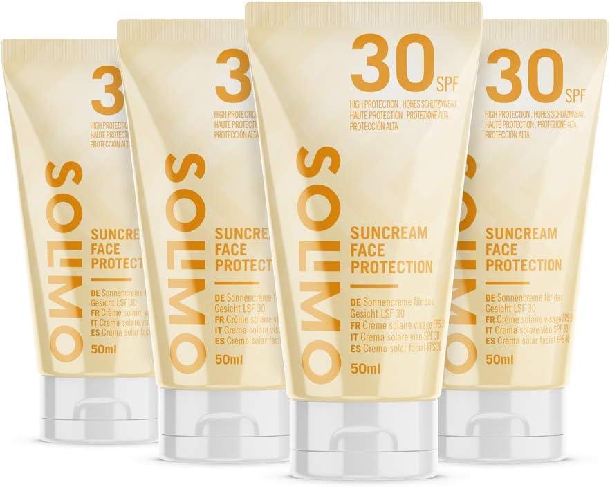 4 botes de crema solar Amazon Solimo FPS 30+ por sólo 5,45€