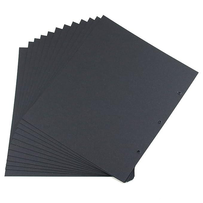 101 opinioni per XIUJUAN Scrapbooking Carta 21.4 x 25.8cm, Pagine Refill Nero per Album 24 x