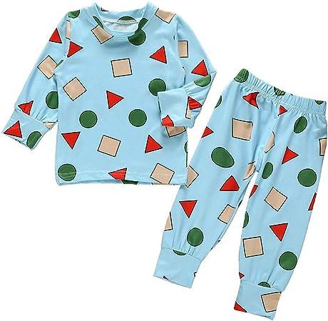 FBGood Ropa de bebé – Camiseta de algodón de Navidad Estampada con Dibujos Animados de Manga Larga para niños – Disfraz de Servicio doméstico + Pantalones, Azul, 100: Amazon.es: Hogar