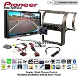 Volunteer Audio Pioneer AVIC-7201NEX Double Din Radio Install Kit with GPS Navigation Apple CarPlay Android Auto Fits 2003-2004 Infiniti G35 (Pewter) (Dual zone A/C controls)
