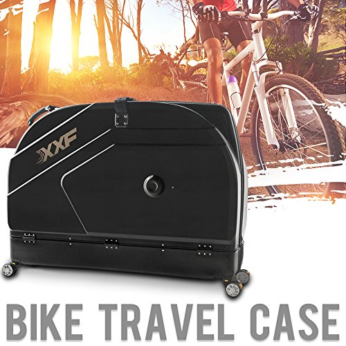 Muses Poem Bike Travel Case for 26''/700C Mountain Road Bicycle Travel Transport Equipment Black by Muses Poem