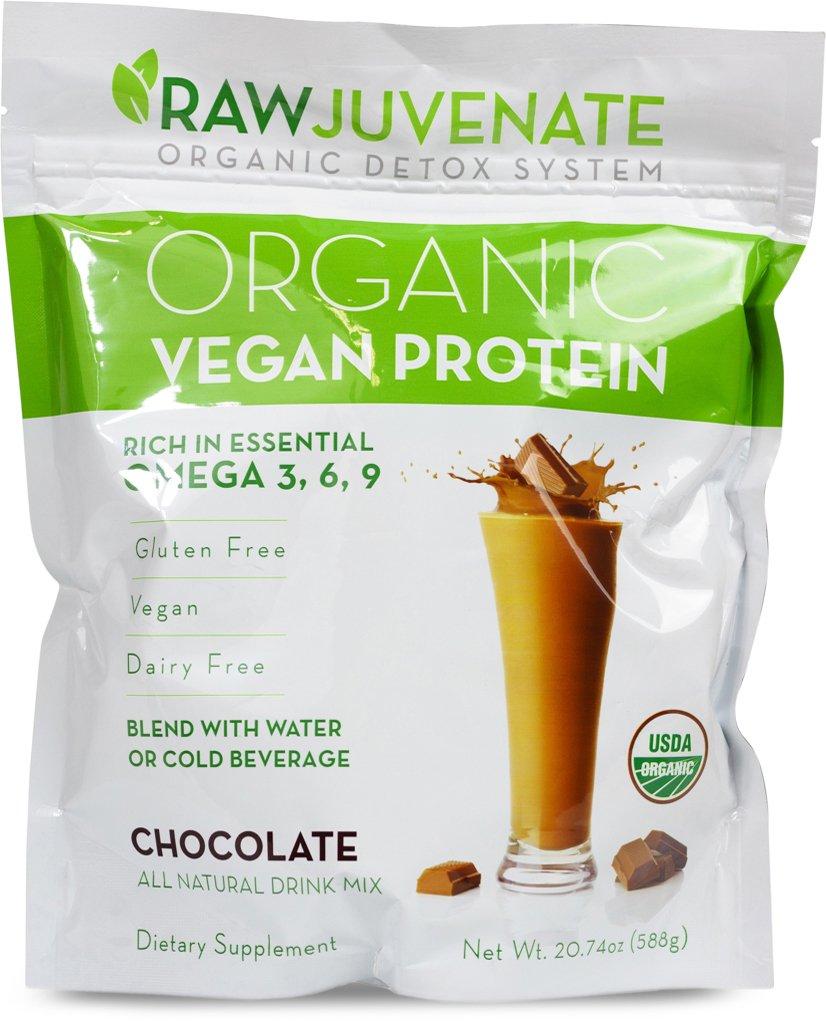 Raw Green Organics - RawJuvenate - Organic Vegan Protein - Chocolate - Rich  in Essential Omega