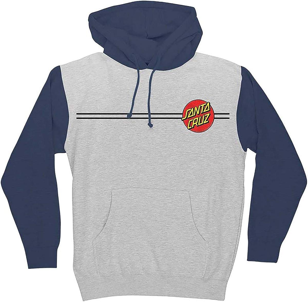 Santa Cruz Mens Classic Pullover Hoody,Meduim,Grey Heather//Slate Blue