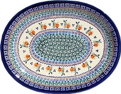 Polish Pottery Large Serving Platter Zaklady Ceramiczne Boleslawiec 1007-du71 Unikat