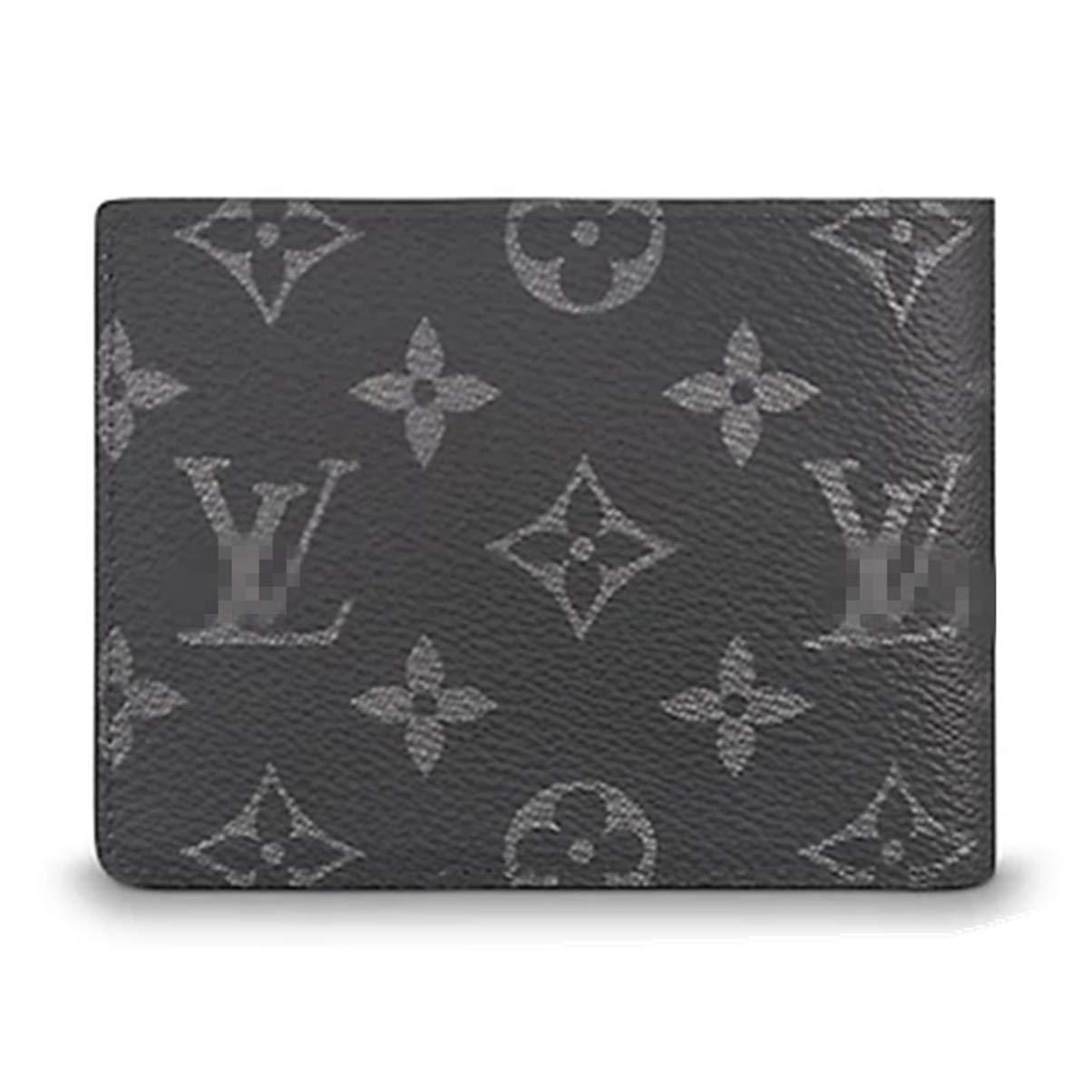 GQX33 Checkered Short Pattern Monogram Canvas Wallet Mini Flower Designer Purse Coin Purse