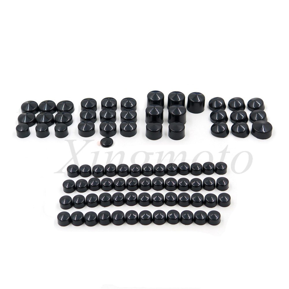 NBX- For 1999-2005 HARLEY-DAVIDSON Dyna Black Engine & Misc Bolt Nuts 86 Pieces Xingmoto