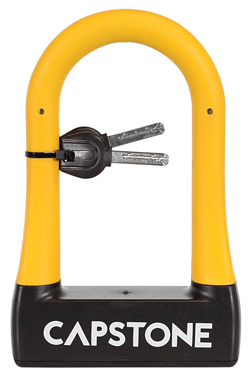 Capstone Rubberized U-Lock With Key, Small
