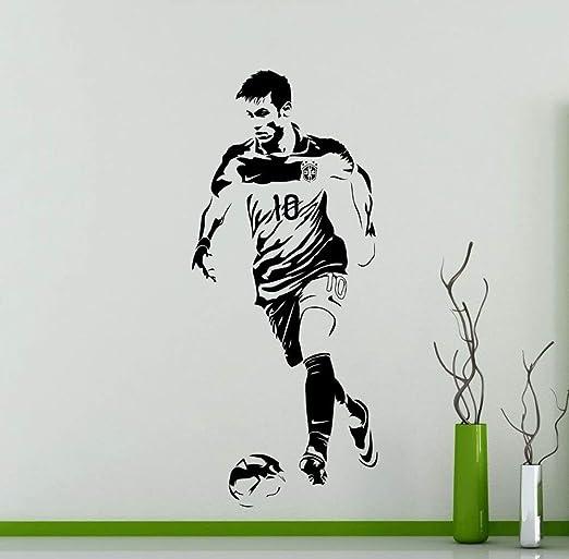 wangpdp Neymar Tatuajes de Pared Guapo Estrella de fútbol ...