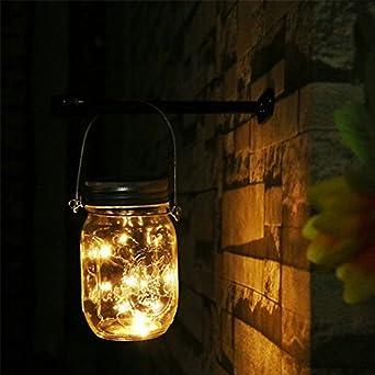Farol con guirnalda de luces LED solares de colores cambiantes en ...