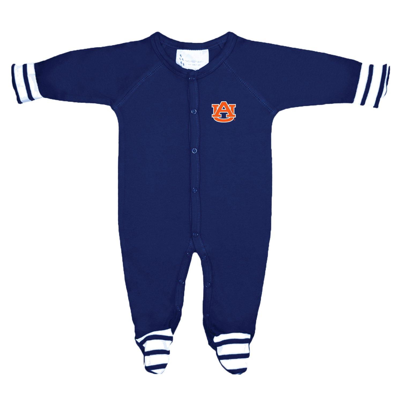 Auburn Tigers NCAA Newborn Baby Long Sleeve Colored Footed Romper