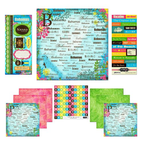 Scrapbook Customs Themed Paper and Stickers Scrapbook Kit, Bahamas (Cruise Scrapbooking)
