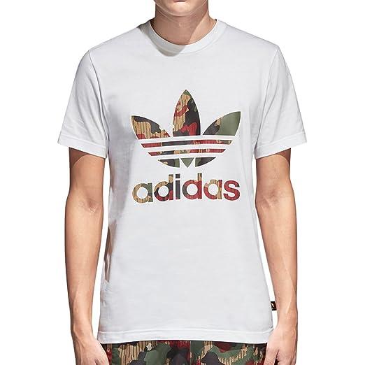 85e1d0e0daf81 adidas Men s Originals Pharrell Williams hu Hiking Trefoil Tee White (Small)