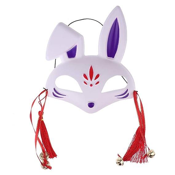 IEFIEL Máscara de Zorro De PVC para Carnaval Halloween Fiesta/Cara ...