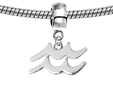 Amazon com: Silver Zodiac sign charm - fits all type of