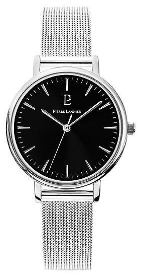 Pierre Lannier – 089j638: reloj mujer acero – movimiento cuarzo – Esfera Negro