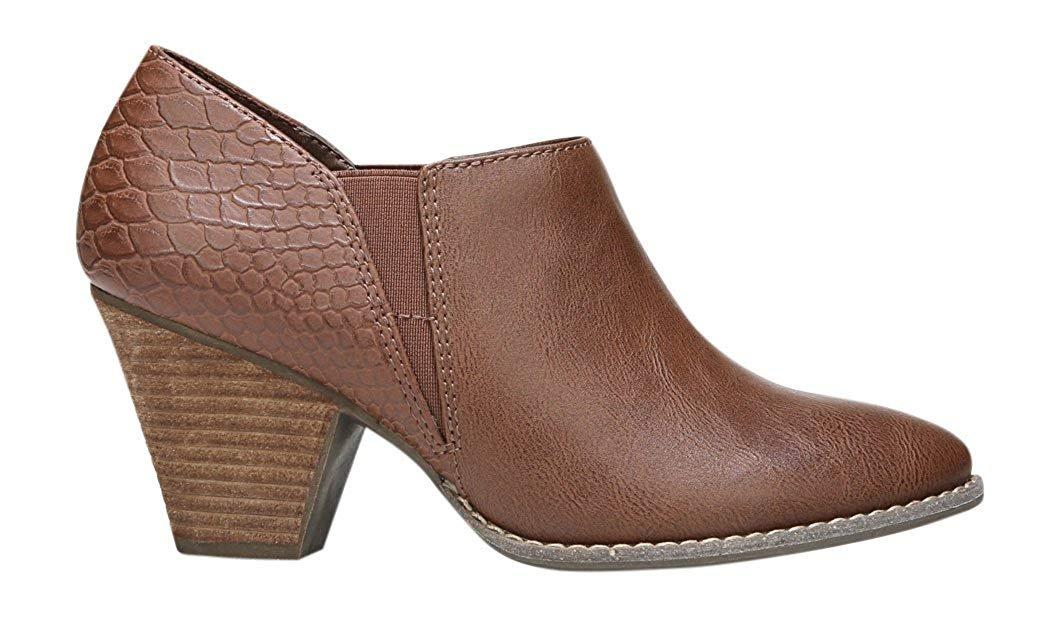 Dr. Scholl's Women's Charlie Ankle Bootie B07DWDKNJG 10 B(M) US|Whiskey