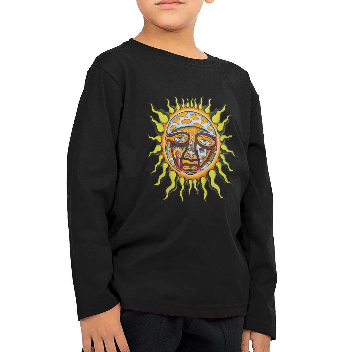 The Story of Sublimes Iconic Sun Logo Childrens Personalized Long-Sleeved T Shirts Cotton Round Collar Shirt
