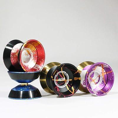 Magic YoYo and SpinGear Katana M06 Bi Metal Yo-Yo (Silver Red Orange): Toys & Games