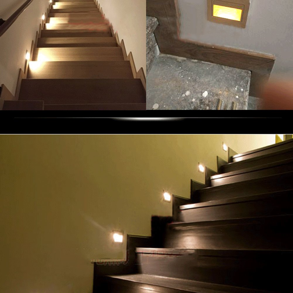 Amazon fuloon led recessed downlight spot light stage stair amazon fuloon led recessed downlight spot light stage stair lighting wall decking deck lights warm white light garden outdoor mozeypictures Image collections