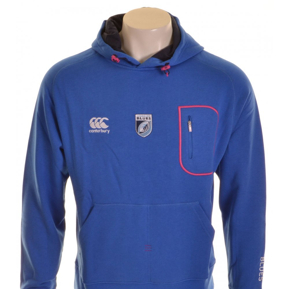 Canterbury Cardiff Blaus Training Hoody Blau und Marineblau