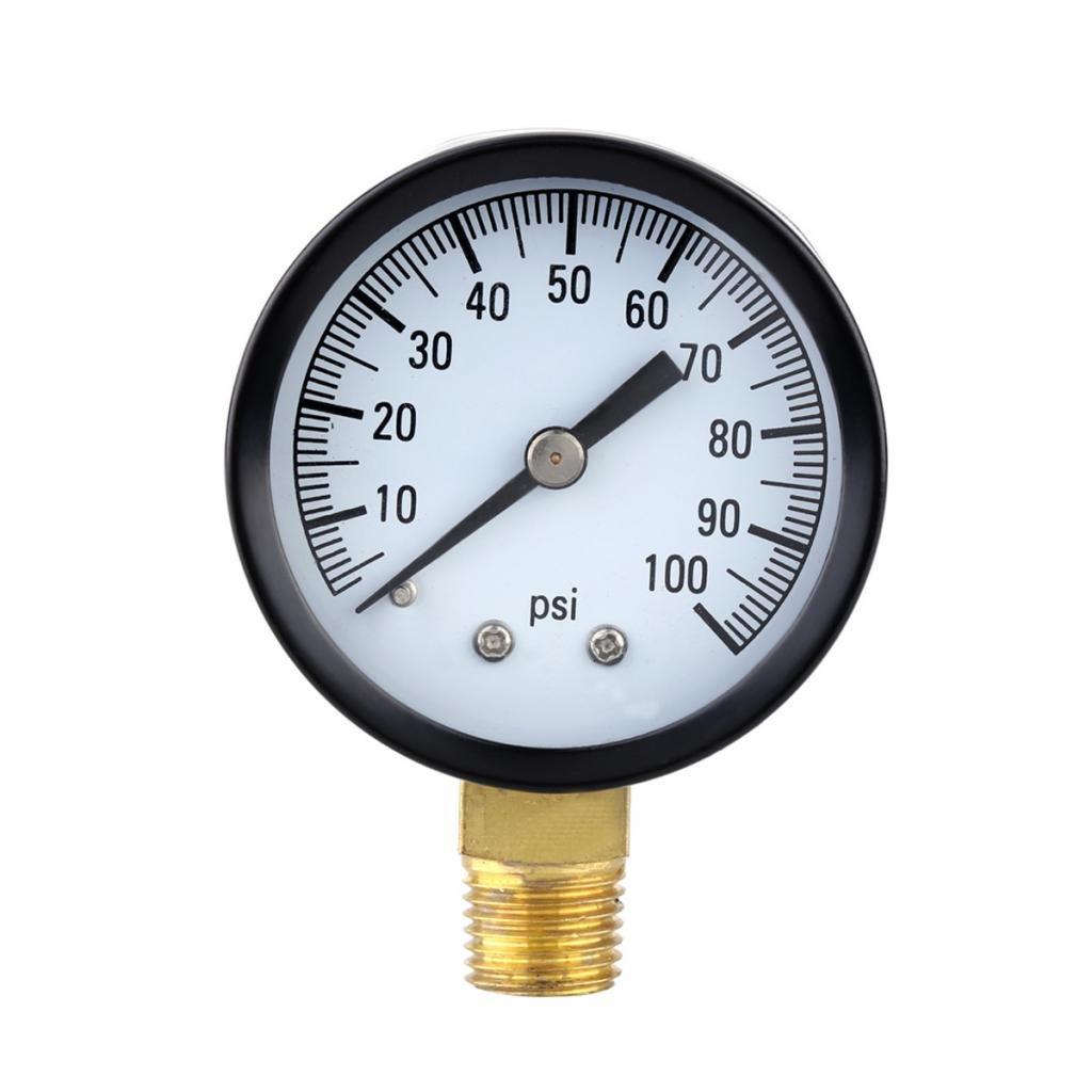 0-100psi Mini Dial Air Compressor Meter Hydraulic Pressure Gauge Gage Generic