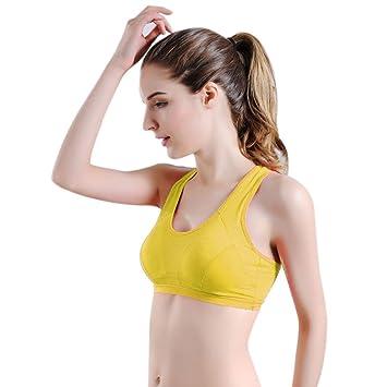 Vovotrade Yoga Bra - Mujer Sport Fitness Push Up Sujetador ...