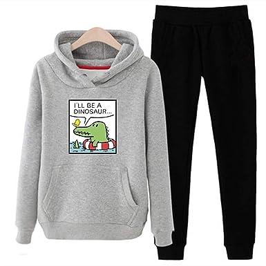 Homstar - Chándal completo de felpa con capucha y pantalones de ...