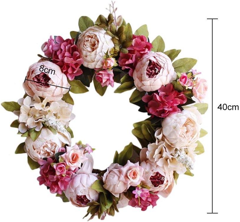 Handmade Fleur Artificielle en osier Couronne pour porte fenêtre ou mur