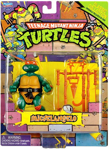 Teenage Mutant Ninja Turtles Classic Collection Michelangelo 4Inches Playmates 90903