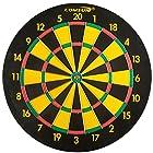 Comsun Steel Tip Dart Board, 18 Inch Scoreboard for Leisure Sport Games Yellow