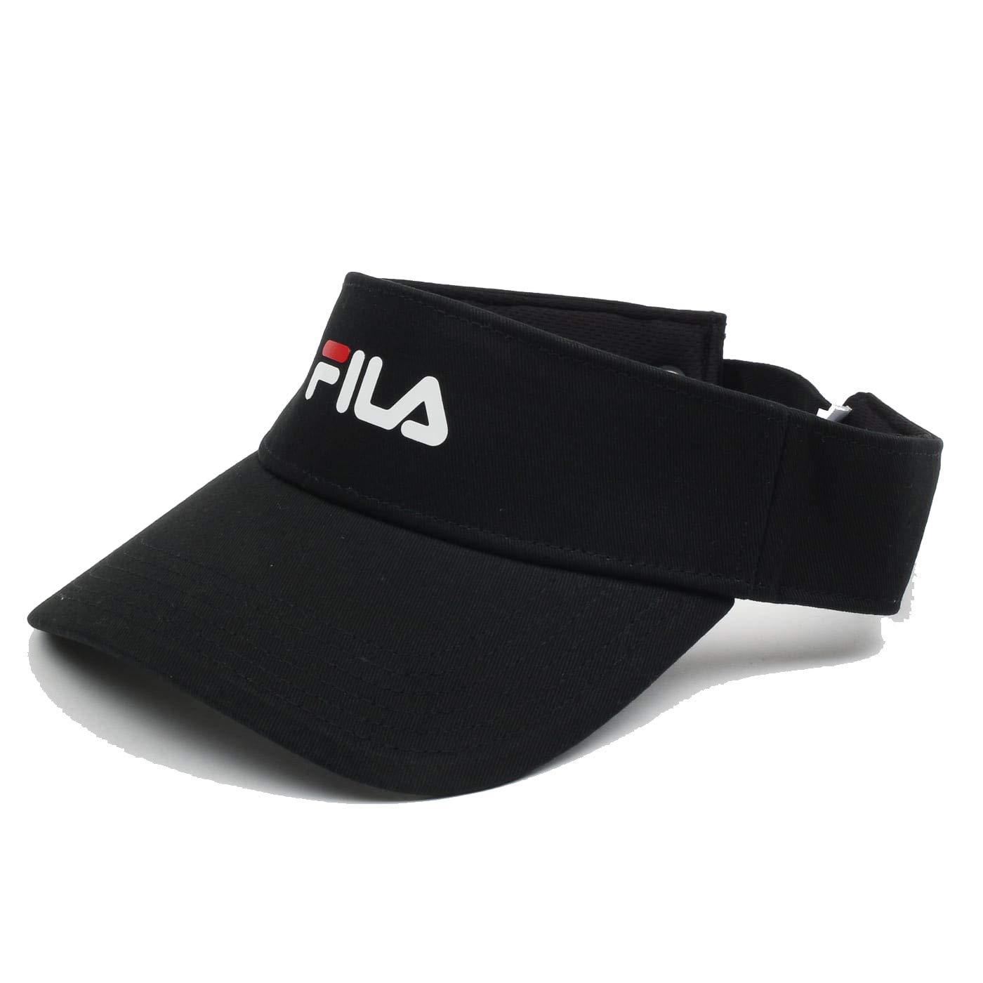 Fila Heritage Cotton Twill Visor Cap Hat Black la912562-001 (Size OS) by Fila