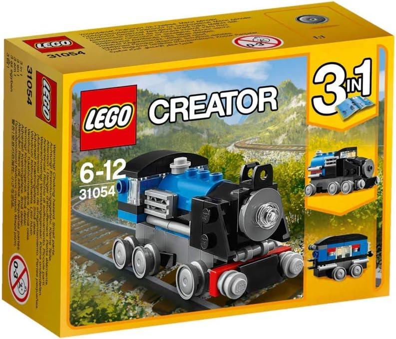 LEGO Creator - Expreso Azul, Juguete de Construcción de Trenes de Seis Ruedas y Locomotora (31054)