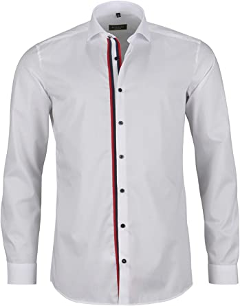 Eterna - Camisa Formal - Cuello Italiano - para Hombre Weiß ...