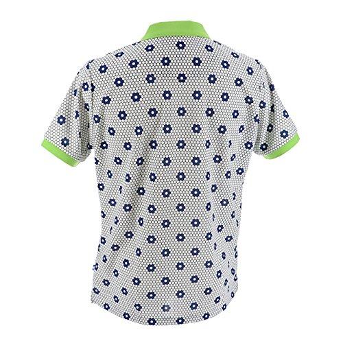 マンシングウェア(Munsingwear) クーリング半袖シャツ MGMLJA10 WHLM ホワイト/ライム L