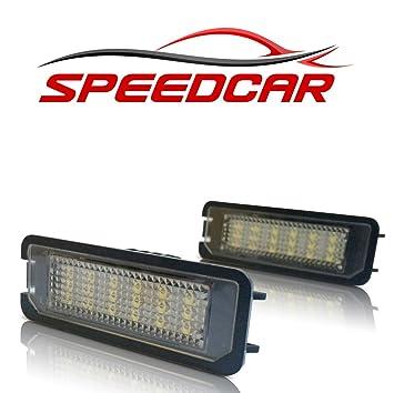 SPEEDCAR Luz LED de matrícula para VW Golf 4, 5 y 6, Lupo,
