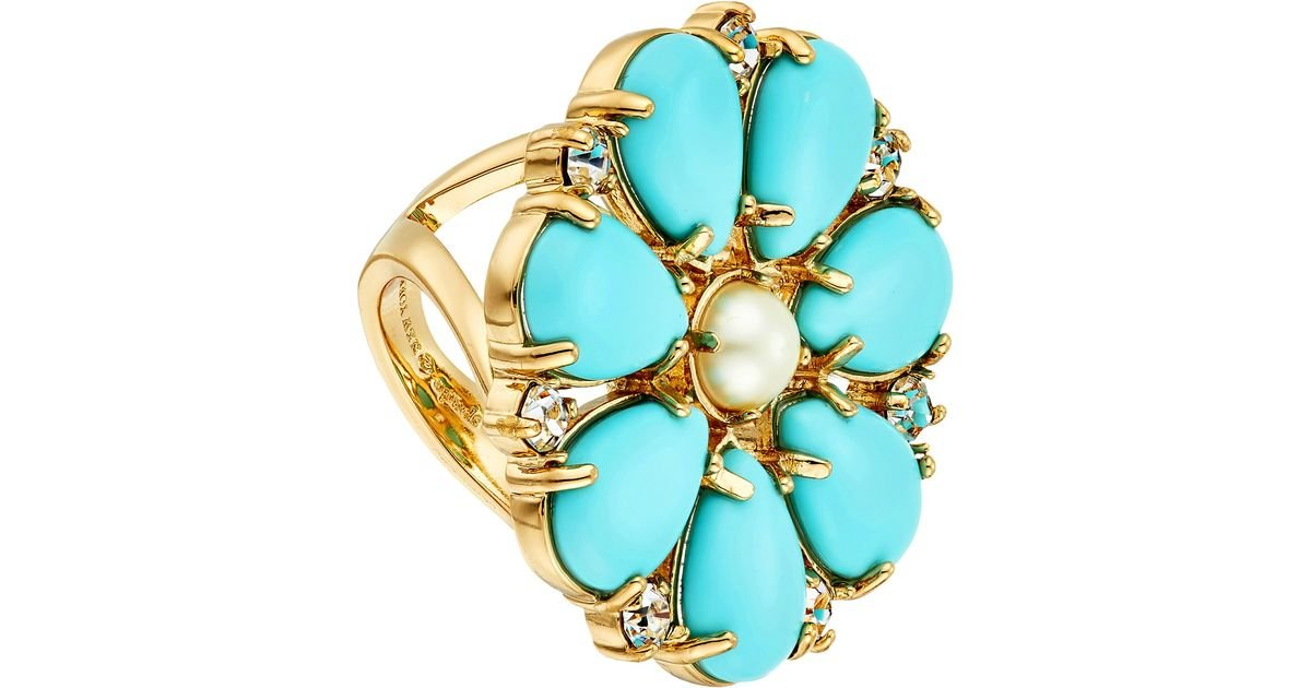 Kate Spade New York Azure Allure Ring Turquoise Multi Ring