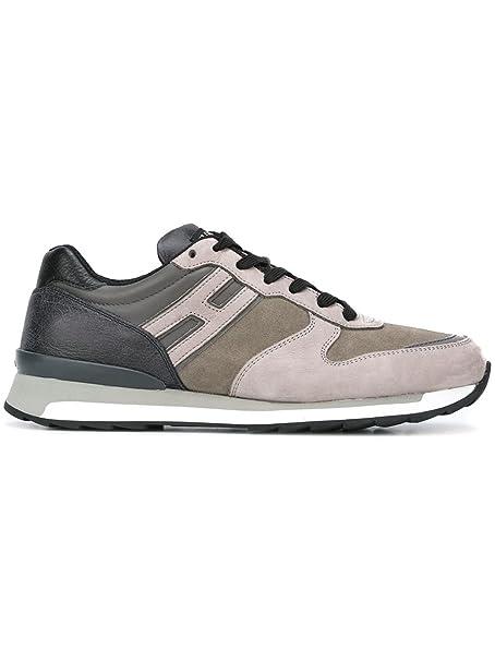 Hogan Rebel Sneakers Uomo Hxm2610r671dyn0xt1 Pelle Grigio  Amazon.it ... d04f1382121